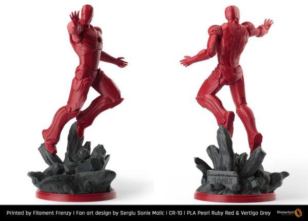 Fillamentum Extrafill PLA filament pearl ruby red