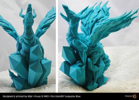 Fillamentum Extrafill PLA filament Turquoise Blue