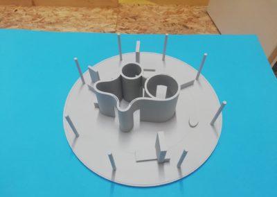 3D printana maketa stana s pomičnim elementima - Facilan C8 3D4Makers