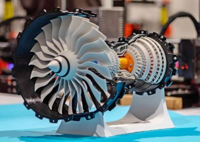Model mlaznog motora aviona - Facilan C8 i colorFabb PETG