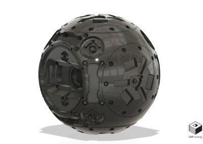 3D model, kugla, 3D print, dizajn, kugla