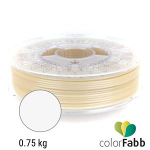 Filament za 3d printer PLA semi matte white proizvođača colorFabb od 0.75 kg