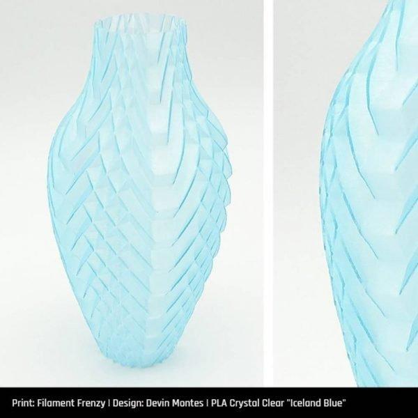 PLA Crystal Clear Iceland Blue - primjer