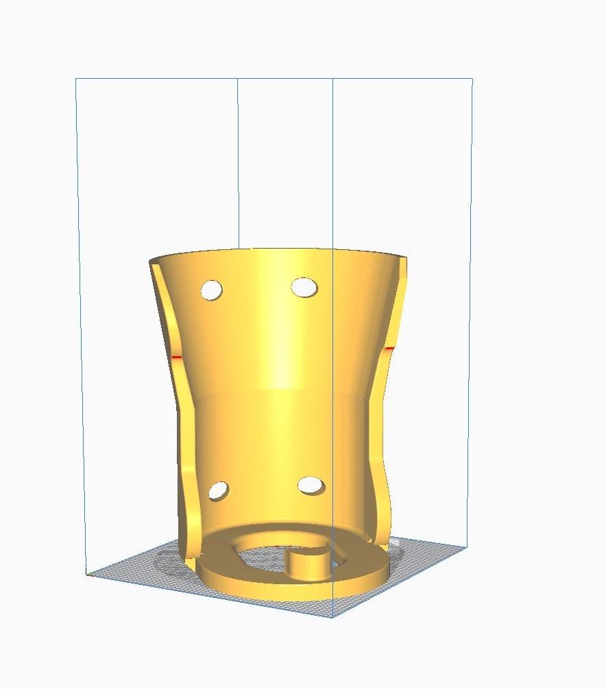 primjer CAD modela u sliceru za FDM